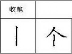 楷书入门《钢笔楷书28种基本笔画》之垂露竖 悬针竖和短竖的写法
